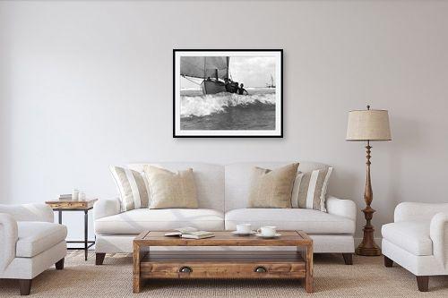 תמונה לסלון - דוד לסלו סקלי - תל אביב 1939 נערים וסירה - מק''ט: 142953
