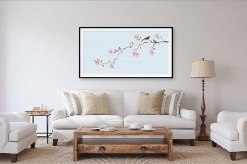 תמונה לסלון - נעמי עיצובים - שתי צפורים - מק''ט: 160391
