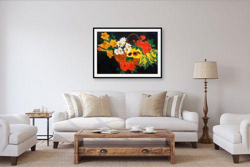 תמונה לסלון - חנה כרמי - סלסלת פרחים - מק''ט: 194990