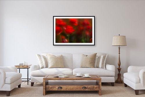 תמונה לסלון - דורית ברקוביץ - זוהרים באדום - מק''ט: 262285