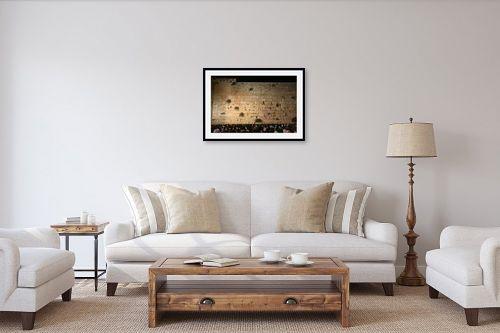 תמונה לסלון - אלי נגר - הכותל המערבי בלילה - מק''ט: 28655
