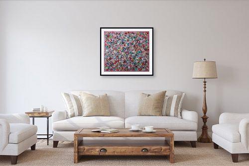 תמונה לסלון - חיים מחט - סילסולים צבעוניים - מק''ט: 310763