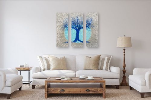 תמונה לסלון - חני שפר - עץ ולבנה - מק''ט: 325519