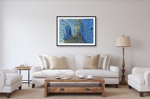 תמונה לסלון - אורי ברוך - סמטה בכחול - מק''ט: 328011