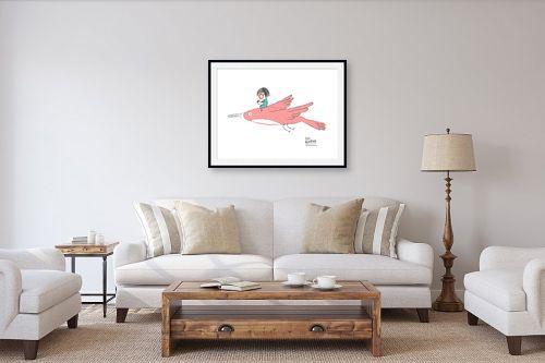 תמונה לסלון - Artpicked - לעוף עם הדמיון - מק''ט: 331744
