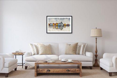 תמונה לסלון - Artpicked - ליד האגם הקפוא - מק''ט: 334072