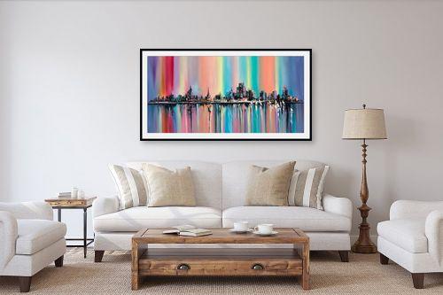 תמונה לסלון - Artpicked - נוף צבעוני של עיר - מק''ט: 334693