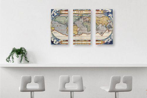 תמונה לבר - מפות העולם - מפה ישנה של העולם - מק''ט: 198963