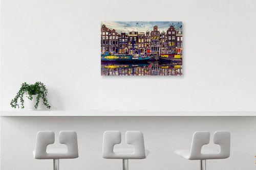 תמונה לבר - Artpicked - אמסטרדם אהובתי - מק''ט: 333001