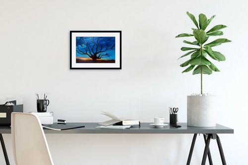תמונה לפינת עבודה - אסתר חן-ברזילי - כי האדם עץ השדה - מק''ט: 105585