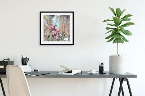 תמונה לפינת עבודה - נעמי פוקס משעול - pink blooming - מק''ט: 112852