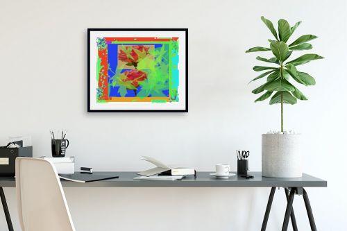 תמונה לפינת עבודה - יונה ראובני - ורדים צבעוניים - מק''ט: 132803