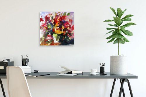 תמונה לפינת עבודה - בן רוטמן - ציורי פרחים - והרבה - מק''ט: 144910