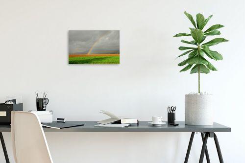 תמונה לפינת עבודה - אייל הצפון - קשת בשדה ירוק - מק''ט: 155960