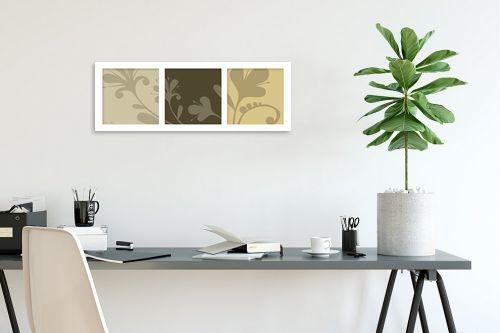 תמונה לפינת עבודה - נעמי עיצובים - פרחי סתיו - מק''ט: 160732