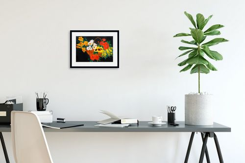 תמונה לפינת עבודה - חנה כרמי - סלסלת פרחים - מק''ט: 194990