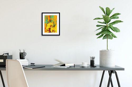 תמונה לפינת עבודה - רוזה לשצ'ינסקי - פרח צהוב - מק''ט: 203681