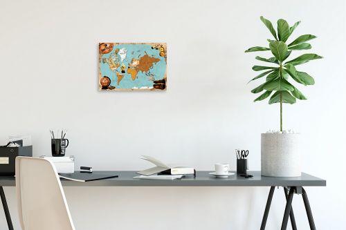 תמונה לפינת עבודה - מפות העולם - Pirates map - מק''ט: 240814