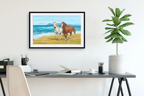תמונה לפינת עבודה - נריה ספיר - דהרה על החוף - מק''ט: 259591
