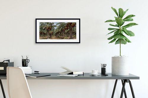 תמונה לפינת עבודה - טניה קלימנקו - עצי תמר - מק''ט: 285239