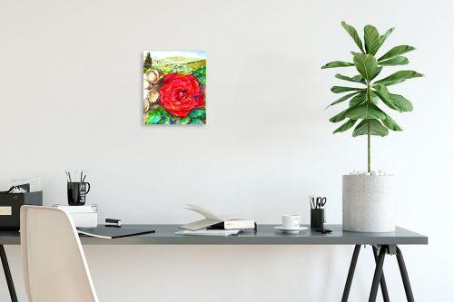 תמונה לפינת עבודה - חיה וייט - ורד אדום - מק''ט: 285559