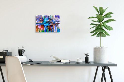 תמונה לפינת עבודה - בן רוטמן - מופשט עם גווני כחול - מק''ט: 289291