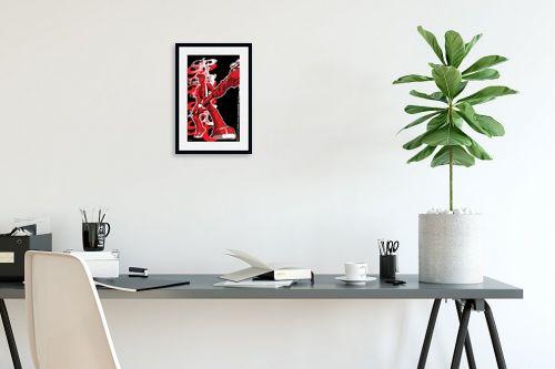 תמונה לפינת עבודה - חנן אביסף - כוכב רוק אנד רול - אדום - מק''ט: 302745