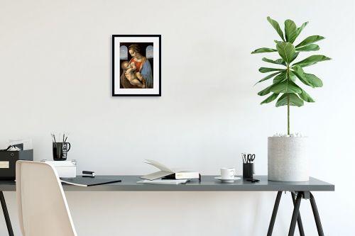 תמונה לפינת עבודה - לאונרדו דה וינצי - Madonna LItta - מק''ט: 303471