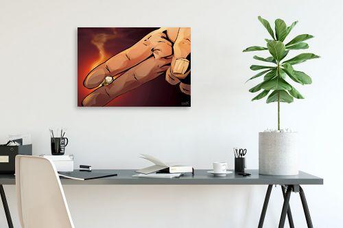 תמונה לפינת עבודה - חנן אביסף - אצבעות מחזיקות סיגריה - מק''ט: 304275