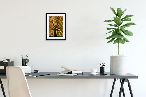 תמונה לפינת עבודה - אסתר חן-ברזילי - עץ מסולסל - מק''ט: 317250