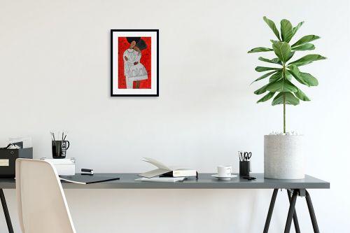 תמונה לפינת עבודה - נטליה ברברניק - אהבה ורימונים אדומים - מק''ט: 330408