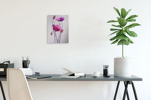 תמונה לפינת עבודה - נטליה ברברניק - פרחים סגולים - מק''ט: 330588