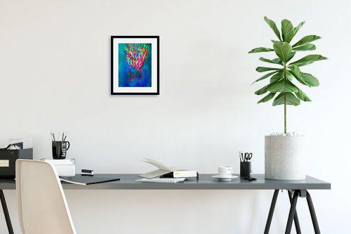 תמונה לפינת עבודה - אורית גפני - מפץ צבעוני - מק''ט: 332424