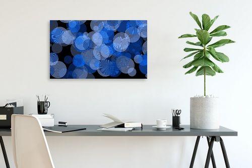 תמונה לפינת עבודה - Artpicked - כחול - מק''ט: 332536