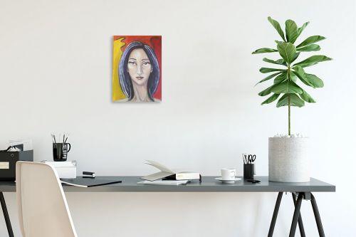 תמונה לפינת עבודה - אילה ארויו - ציירת צבעים - מק''ט: 333742