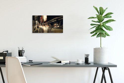תמונה לפינת עבודה - Artpicked - עירוני באדום ושחור - מק''ט: 334714