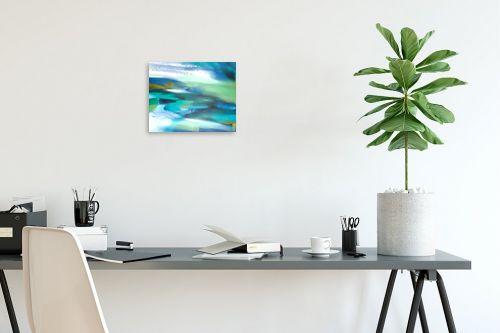 תמונה לפינת עבודה - Artpicked - נוף בכחול - מק''ט: 334870