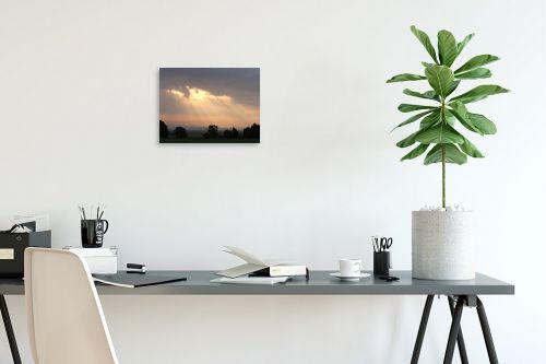 תמונה לפינת עבודה - משה יפה - בקיעה מבין ענן - מק''ט: 4283
