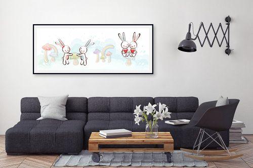 תמונה לסלון - נעמי עיצובים - זוגות זוגות - מק''ט: 157250