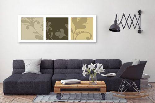 תמונה לסלון - נעמי עיצובים - פרחי סתיו - מק''ט: 160732