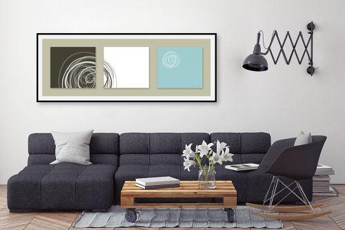 תמונה לסלון - נעמי עיצובים - עיגולים 3 - מק''ט: 163527