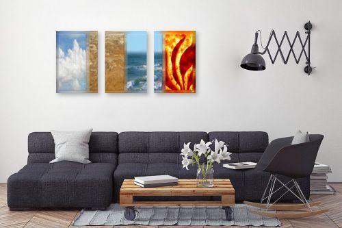 תמונה לסלון - ויקטוריה רייגירה - אש, מים, אדמה, אוויר - מק''ט: 229937