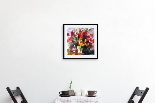 תמונה לפינת אוכל - בן רוטמן - ציורי פרחים - והרבה - מק''ט: 144910