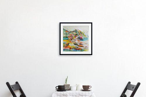 תמונה לפינת אוכל - רינה יניב - נוף צבעוני - מק''ט: 164125