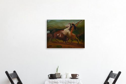 תמונה לפינת אוכל - שרה וולקוב - אינדיאני על סוס - מק''ט: 236540