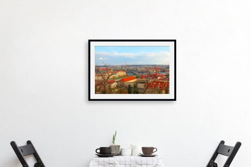 תמונה לפינת אוכל - מתן הירש - גגות אדומים בפראג - מק''ט: 283093