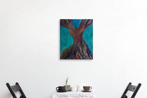 תמונה לפינת אוכל - אסתר חן-ברזילי - עץ מרקד - מק''ט: 306208