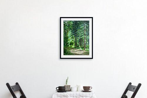 תמונה לפינת אוכל - נריה ספיר - בוקר ביער - מק''ט: 313492
