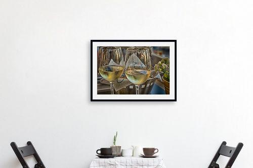 תמונה לפינת אוכל - טניה קלימנקו - שתי כוסות יין לבן - מק''ט: 313993