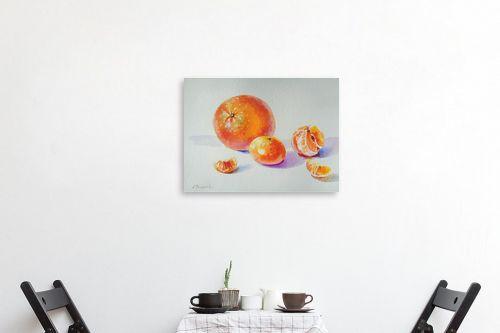 תמונה לפינת אוכל - נטליה ברברניק - תפוז ומנדרינות - מק''ט: 330619